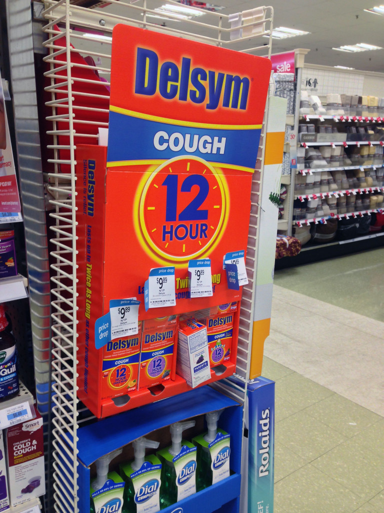 Delsym Cough Side Kick Display