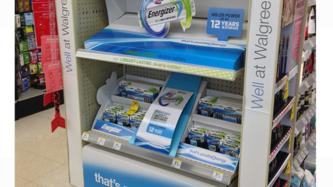 Energizer Positive Energy End Cap Display