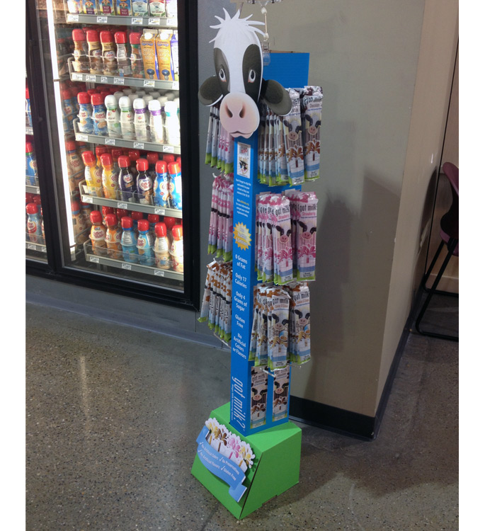 Magic Milk Straws Floor Display