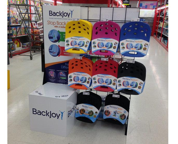 BackJoy Permanent Demo Floor Display