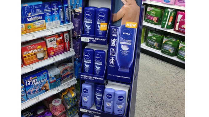 Nivea In-Shower Floor Display