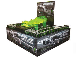 Monster Energy Race Car Stacker Display
