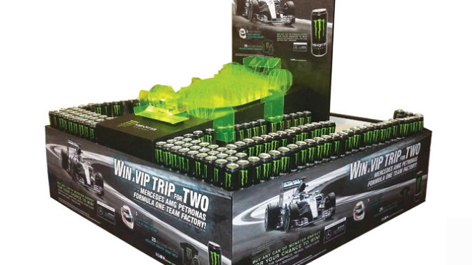 Monster Energy Race Car Stacker Display