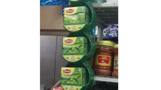 Lipton Green Tea Mini Wing Display