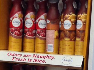 Febreze Naughty Holiday Floor Display