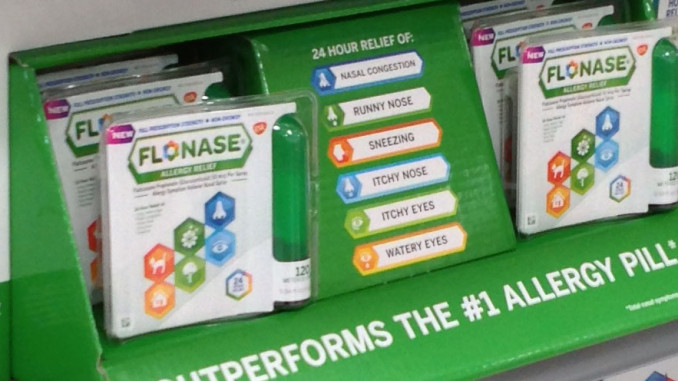 Flonase End Cap Trays