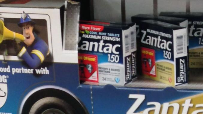Zantac Fire Truck End Cap Trays