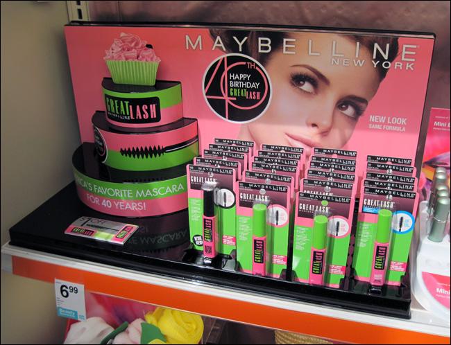 Maybelline Great Lash Shelf Display