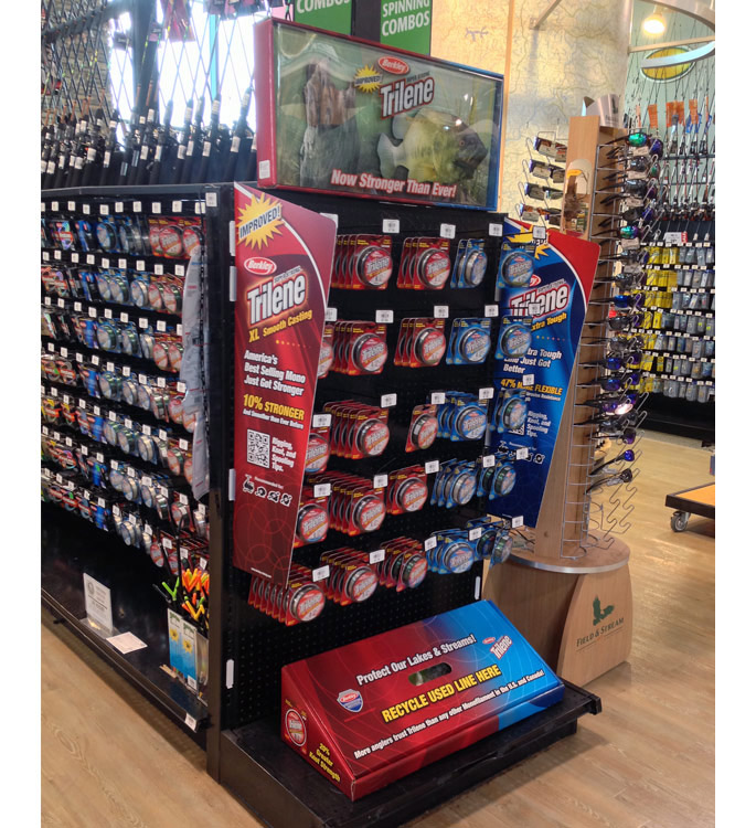 Berkley Fishing Line Catchy POP End Cap Display - Point of