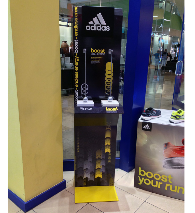 Adidas Boost Floor Display