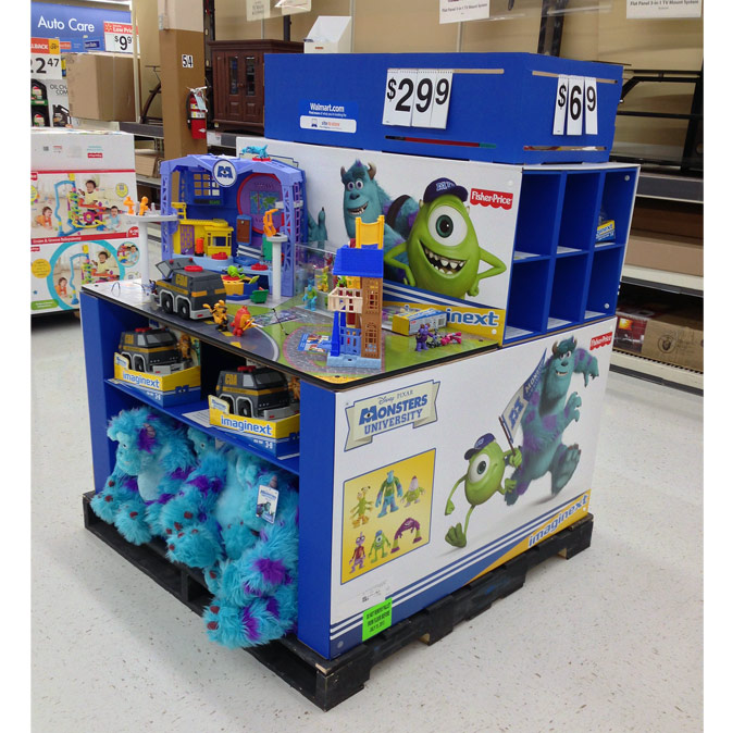 Fisher-Price Monsters Pallet Display