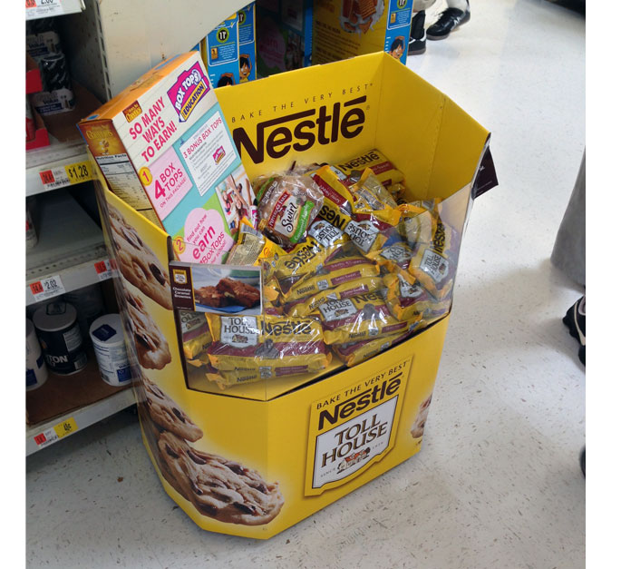 Nestle Toll House Floor Display
