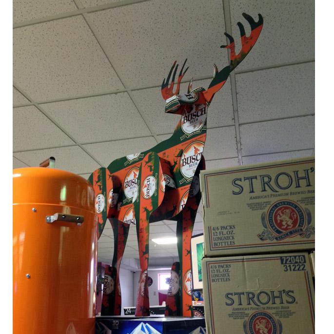 Busch Beer Deer Display