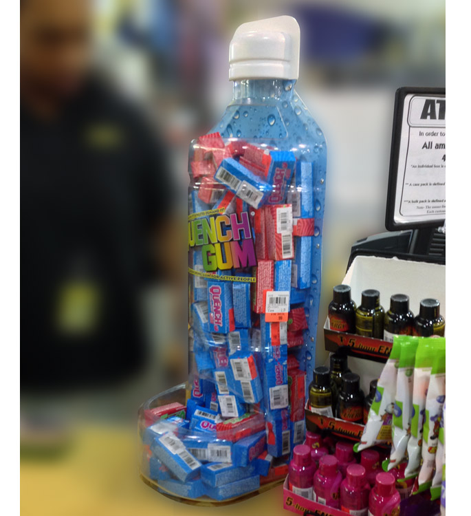 Quench Gum Counter Display