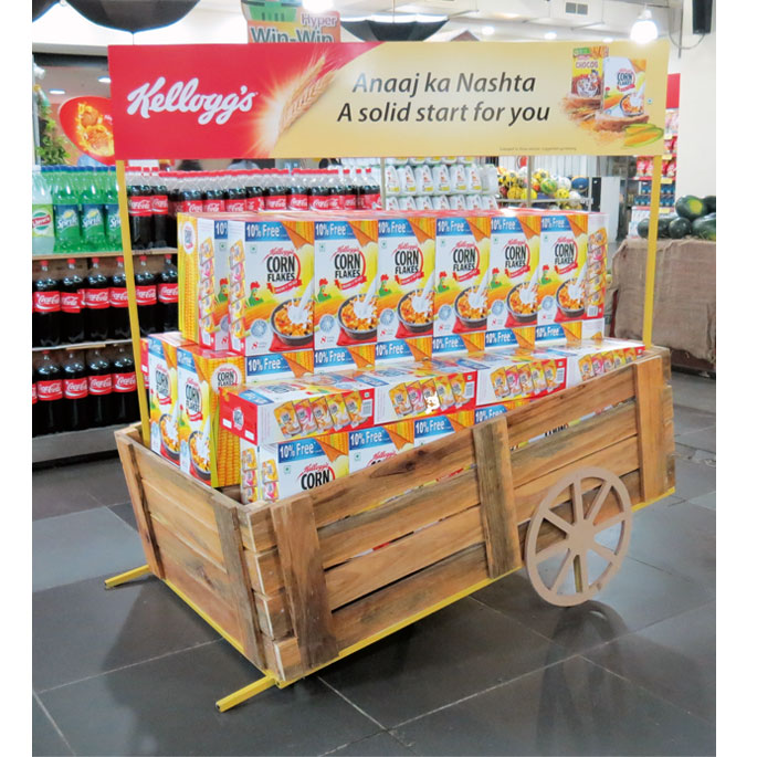 POP Parade September 40 Point Of Purchase International Network New Kellogg's Cereal Display Stand