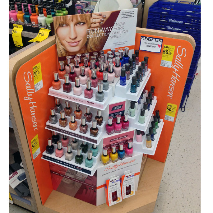 Sally Hansen Runway Shelf Display