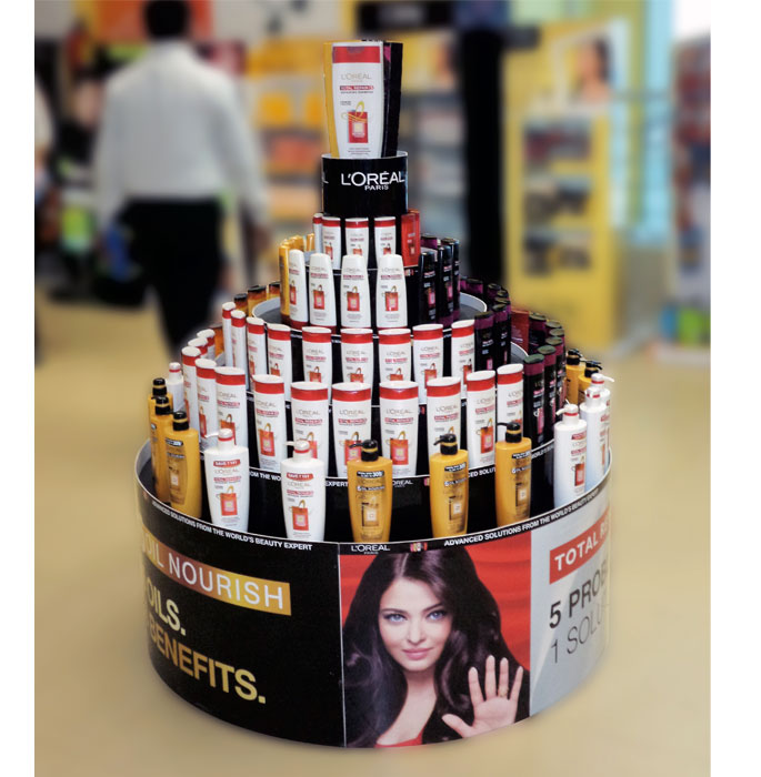 L'Oreal Round Floor Display