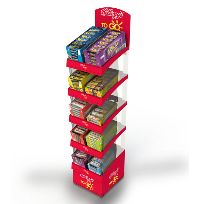 Kellogg's 40 Tier POS Unit Engages Customers On The Go Point Of Magnificent Kellogg's Cereal Display Stand