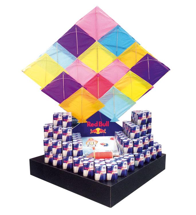 Red Bull Stacker Floor Display