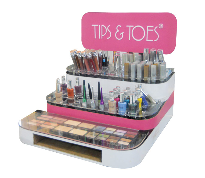 Tip And Toes Counter Display