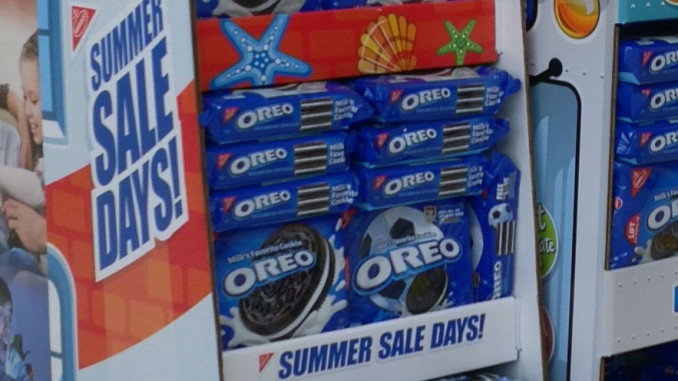 Nabisco Summer Sales Floor Display
