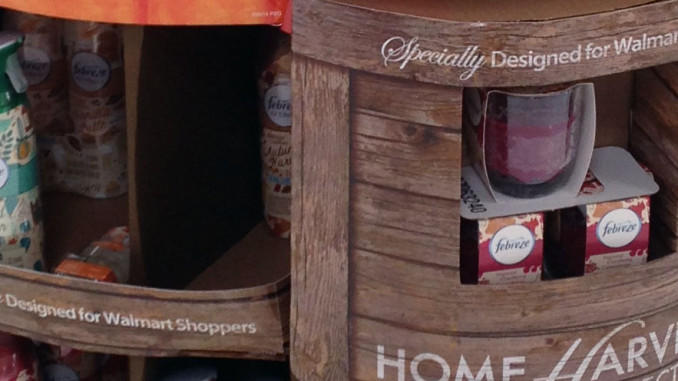 Febreze Home Harvest Pallet Display