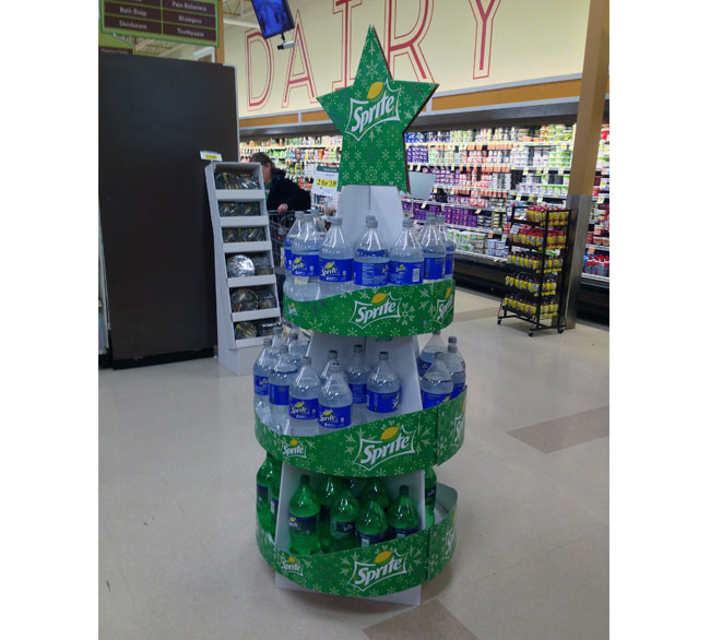 Sprite Holiday Tree Floor Display