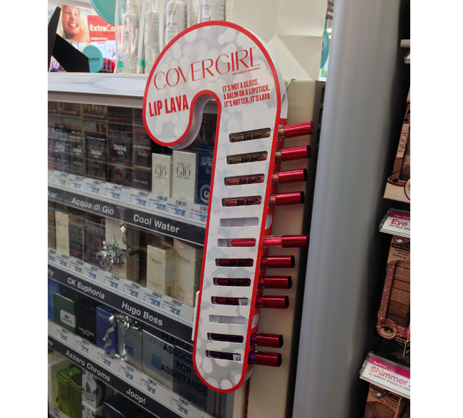 Covergirl Lip Lava Candy Cane Mini Wing Display