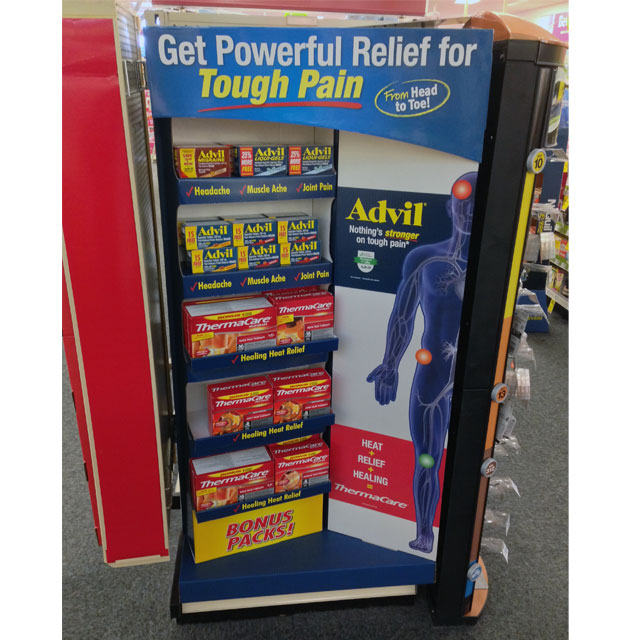 Advil Thermacare End Cap Display