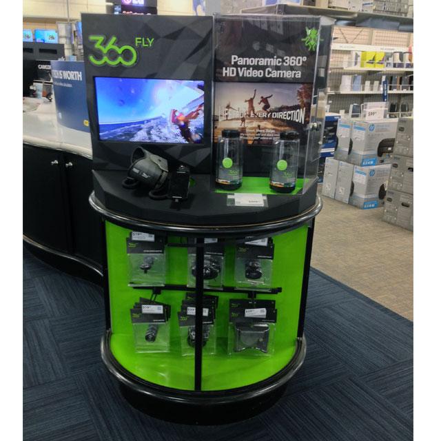 360 Fly Island Display