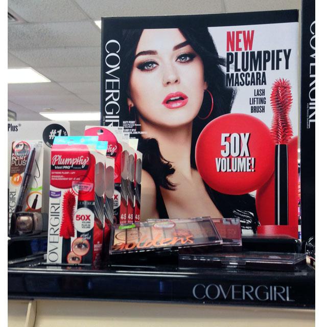 Covergirl Plumpify Shelf Display