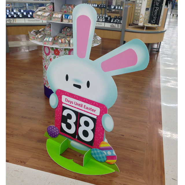 Days Until Easter Standee