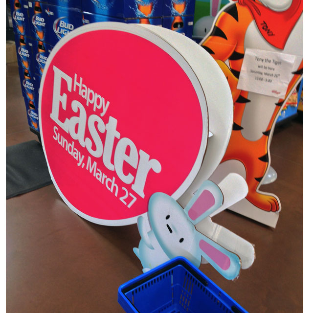 Happy Easter Bunny Egg Standee