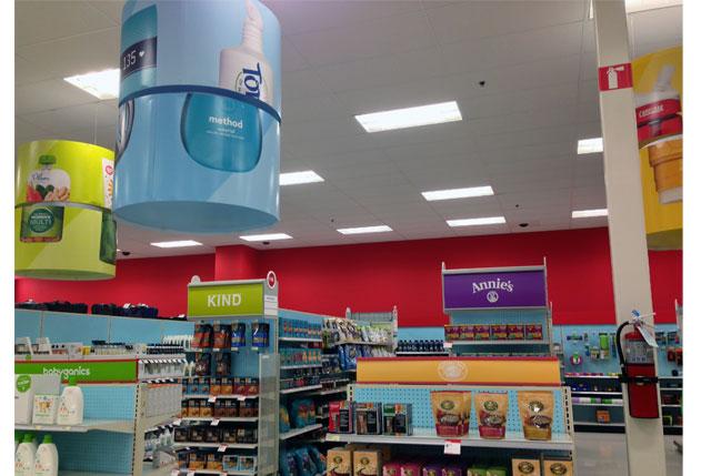 Target Spinning Ceiling Displays