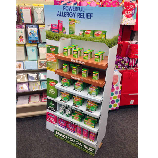 Powerful Allergy Relief Floor Display