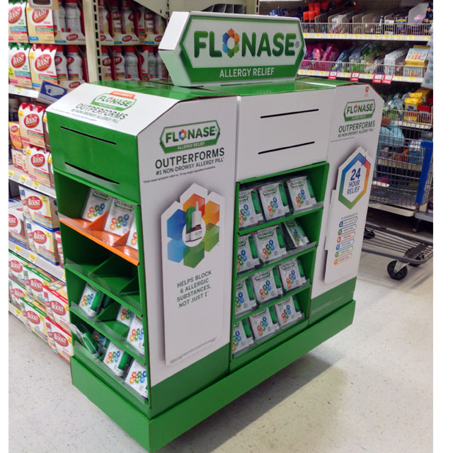 Flonase Half Pallet Display