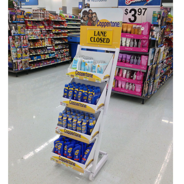 Coppertone Lane Closed Floor Display