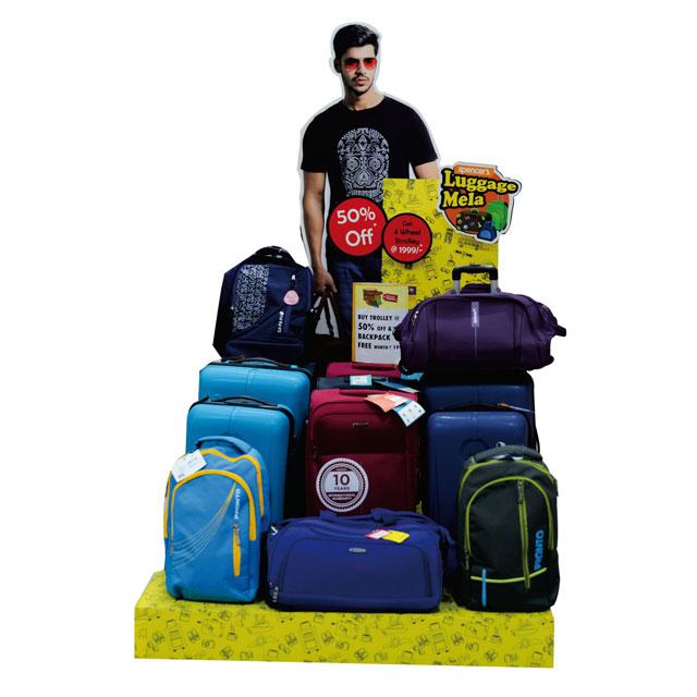 Jet Set Go Luggage Floor Display