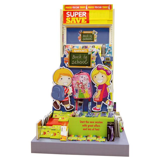 Back To School Super Save Floor Display