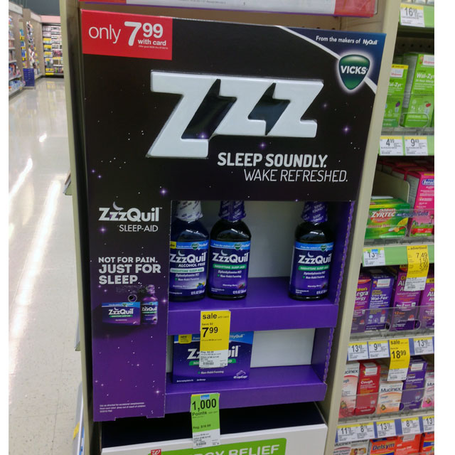 Nyquil ZZZ Side Kick Display