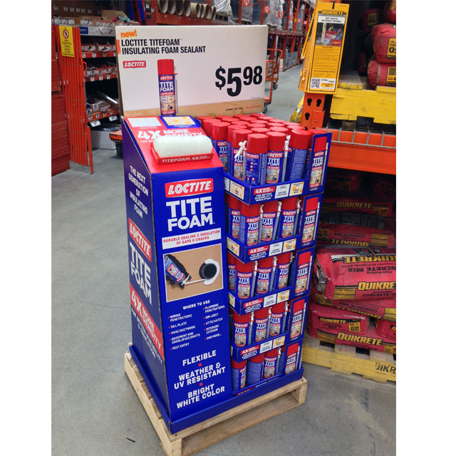 Loctite Tite Foam Pallet Display