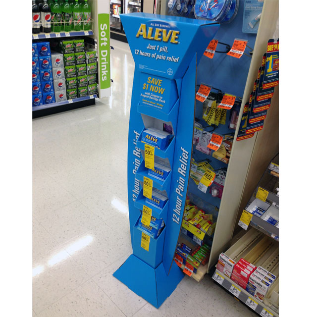 Aleve Tower Floor Display