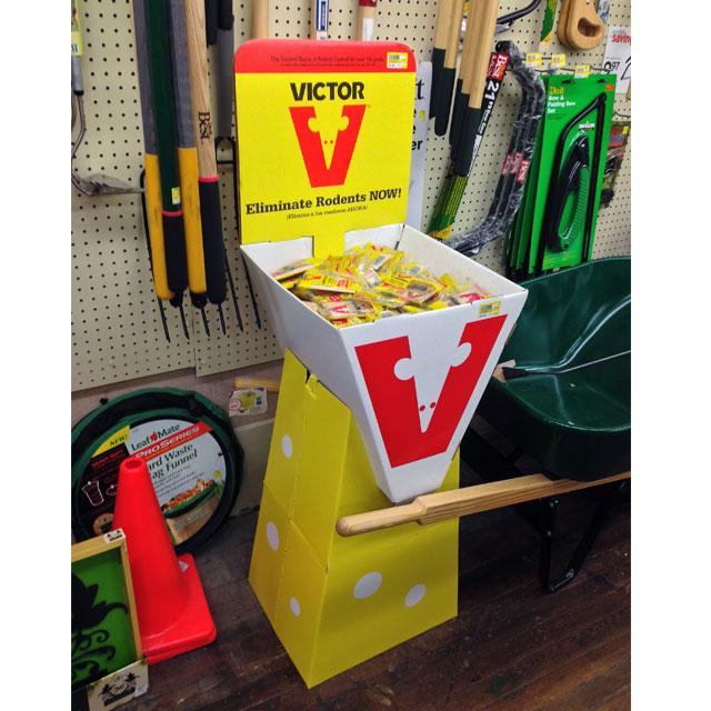 Victor Dump Bin Floor Display
