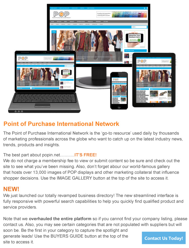 Point of Purchase International Network