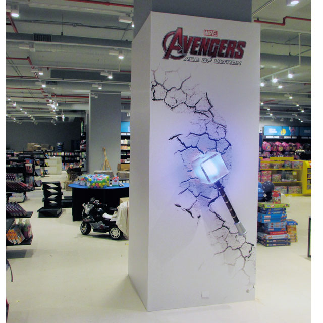 Avengers Pillar Display