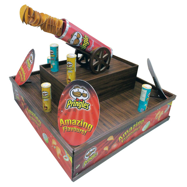 Pringles Cannon Stacker Display