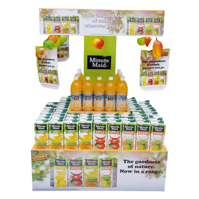 Minute Maid Stacker Display