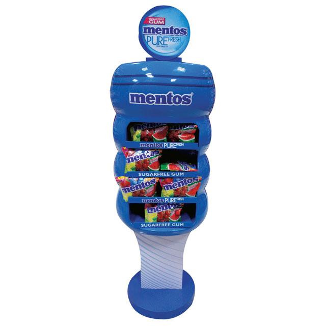 Mentos Gum Floor Display