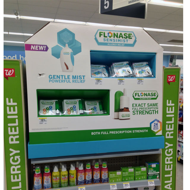 Flonase Sensimist End Cap Display