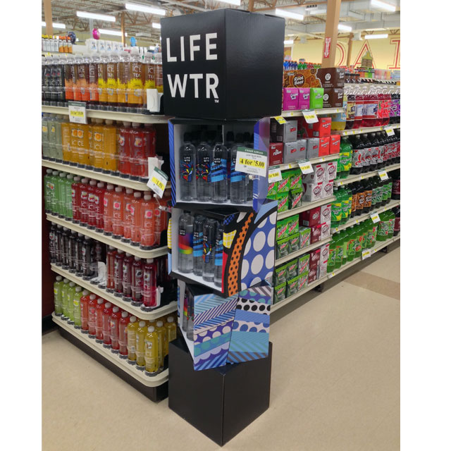 LIFEWTR POP Floor Display